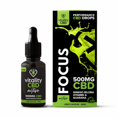 Active CBD Focus Drops - 500mg