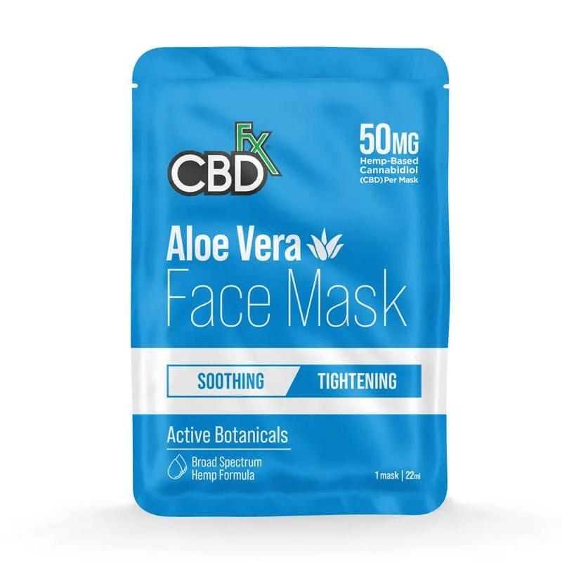 CBDfx Aloe Vera Face Mask 50mg