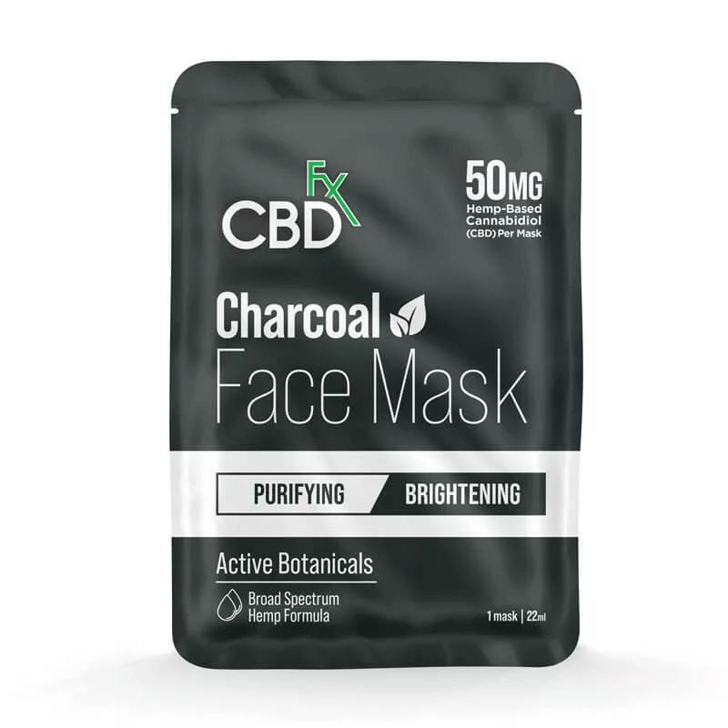 CBDfx Charcoal Face Mask 50mg