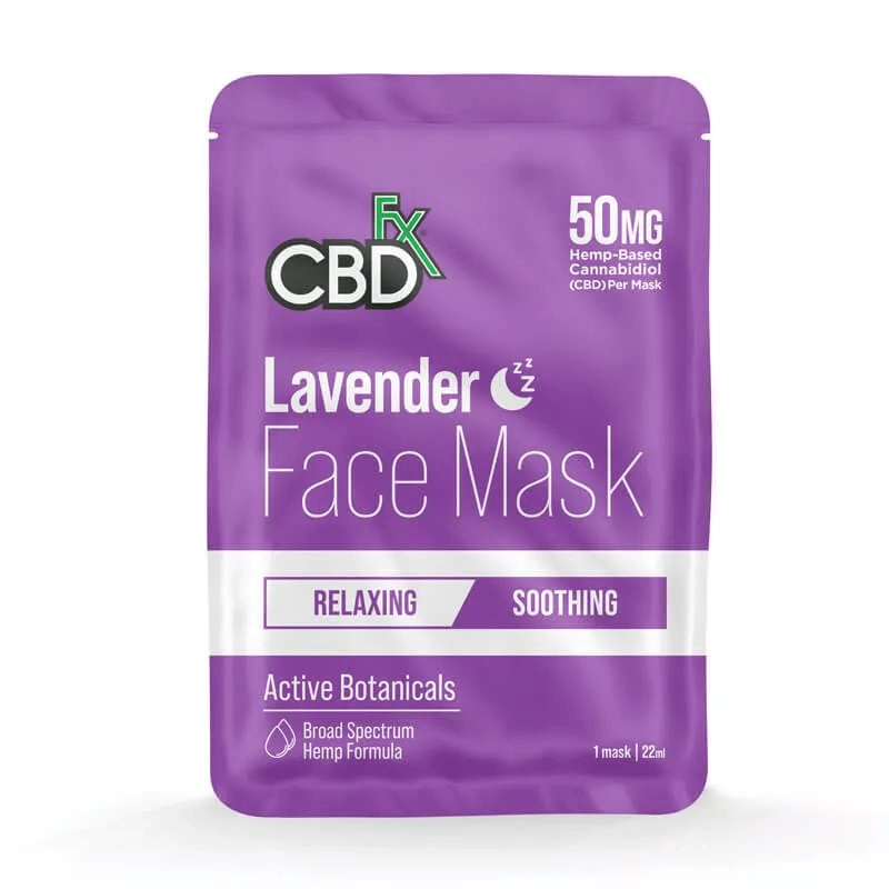 CBDfx Lavender Face Mask 50mg