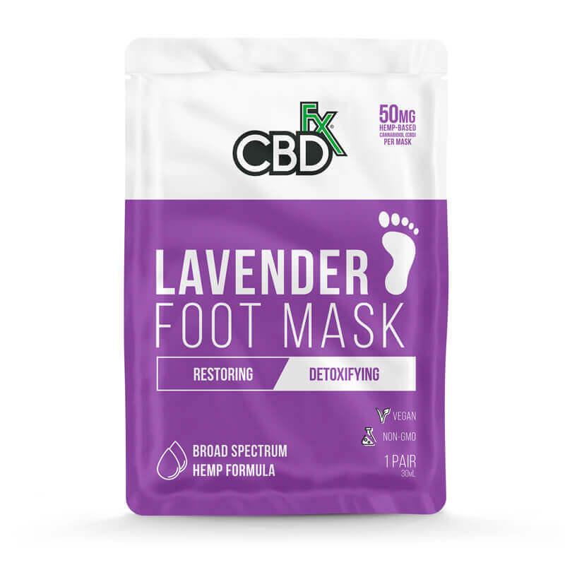 CBDfx Lavender Hemp Foot Mask 50mg