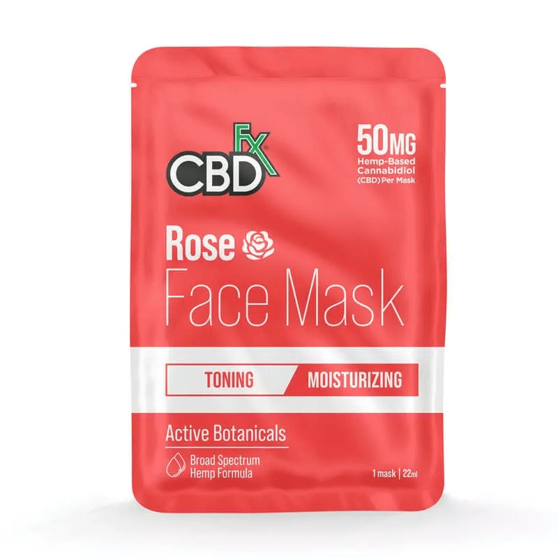 CBDfx Rose Face Mask 50mg