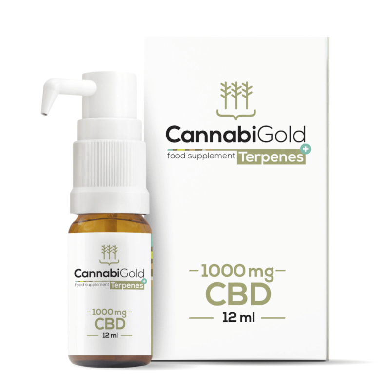 CannabiGold Terpenes+ CBD Oil 12ml - 1000mg