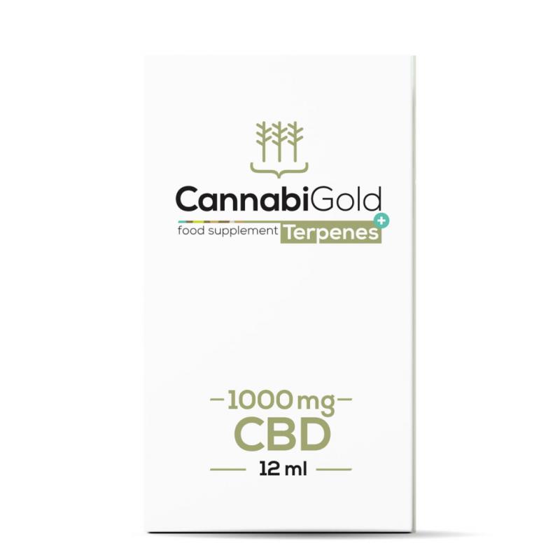 CannabiGold Terpenes+ CBD Oil 12ml - 1000mg - Package Front