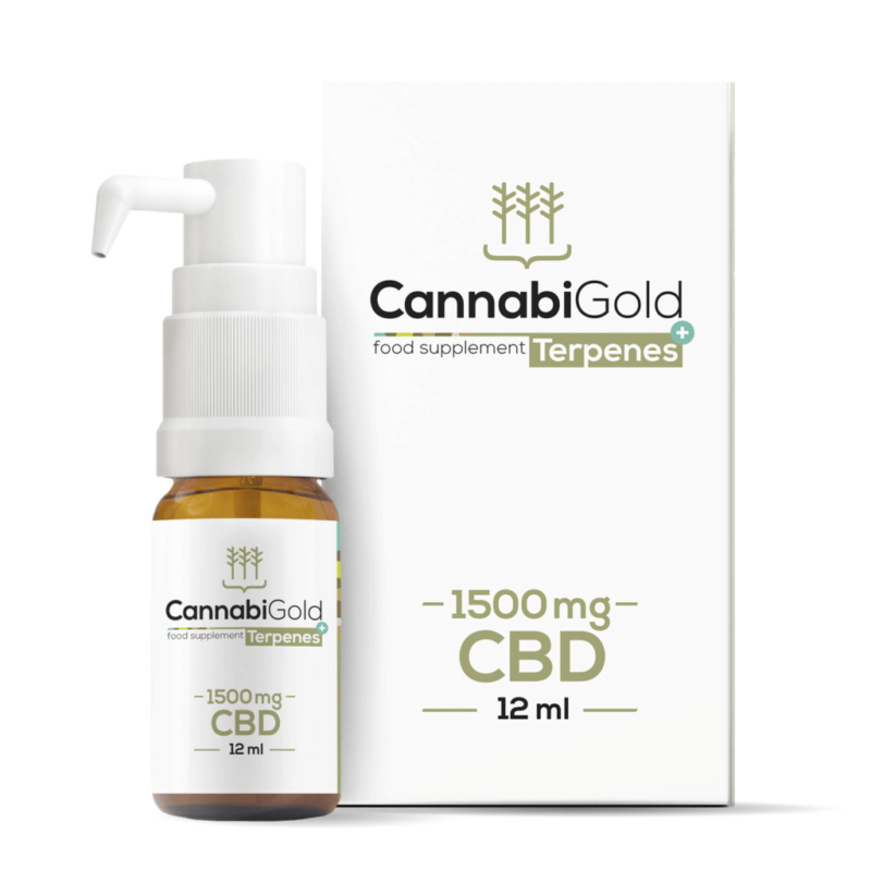 CannabiGold Terpenes+ CBD Oil 12ml - 1500mg