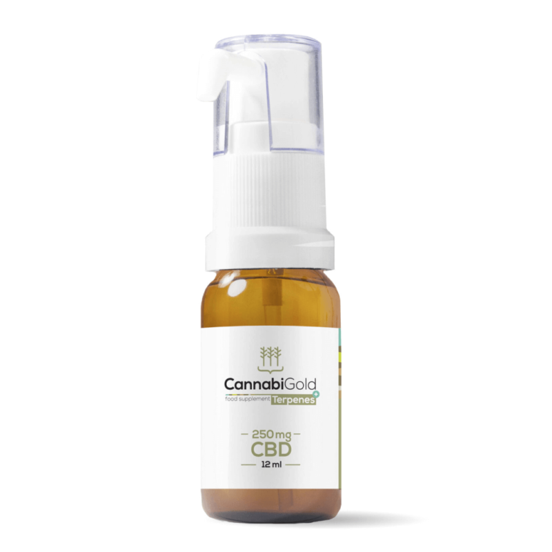CannabiGold Terpenes+ CBD Oil 12ml - 250mg - Bottle