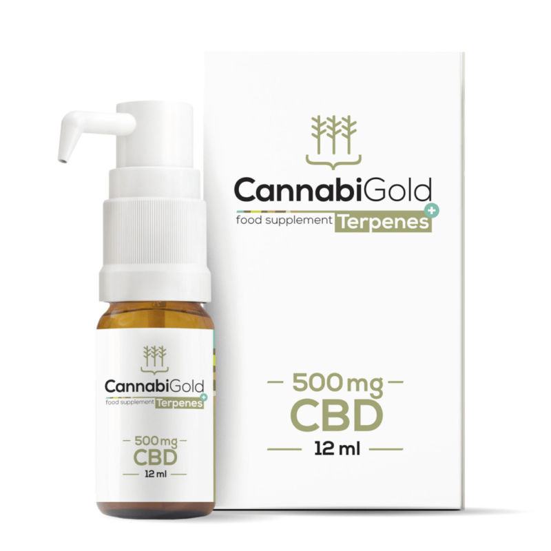CannabiGold Terpenes+ CBD Oil 12ml - 500mg