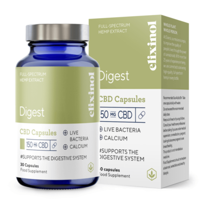 Elixinol Digest 150mg Powdered CBD Capsules