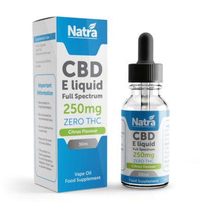 Natra CBD E-Liquid Citrus Flavour 30ml - 250mg