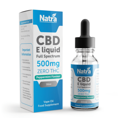 Natra CBD E-Liquid Peppermint Flavour 30ml - 500mg