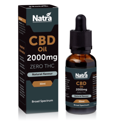 Natra CBD Natural High Strength CBD Oil 30ml - 2000mg