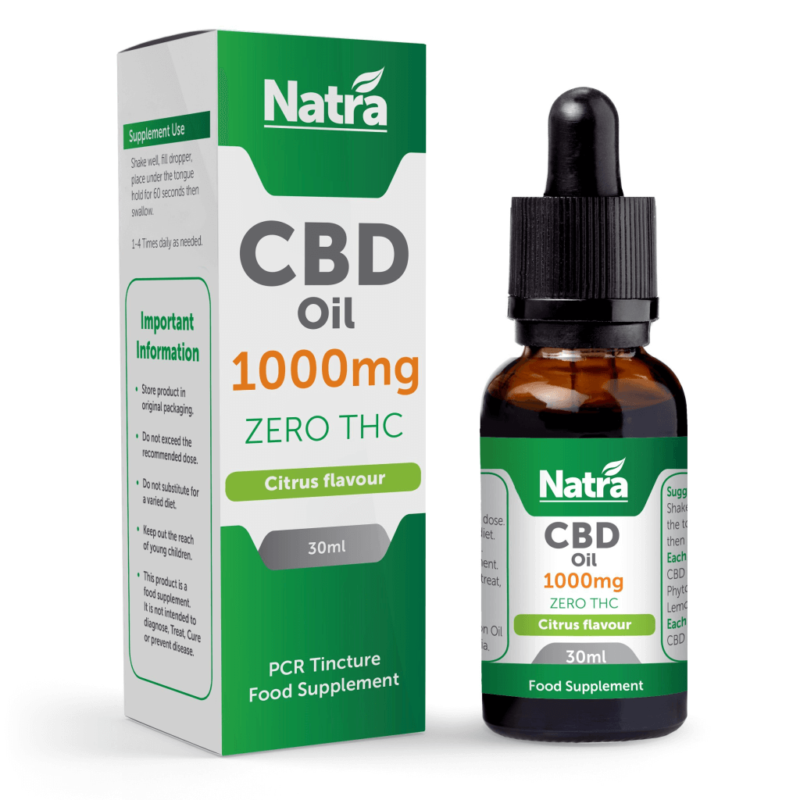 Natra CBD Oil Citrus Flavour 1000mg