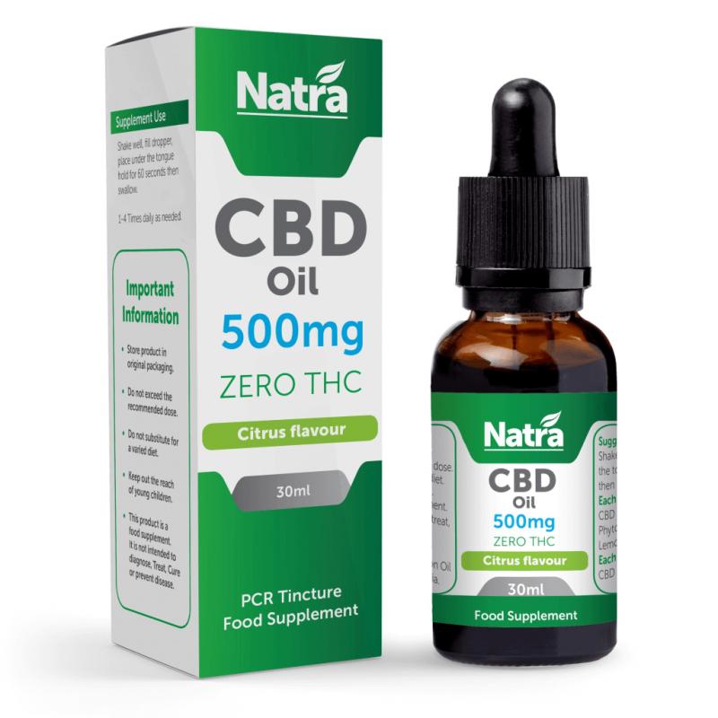 Natra CBD Oil Citrus Flavour 500mg