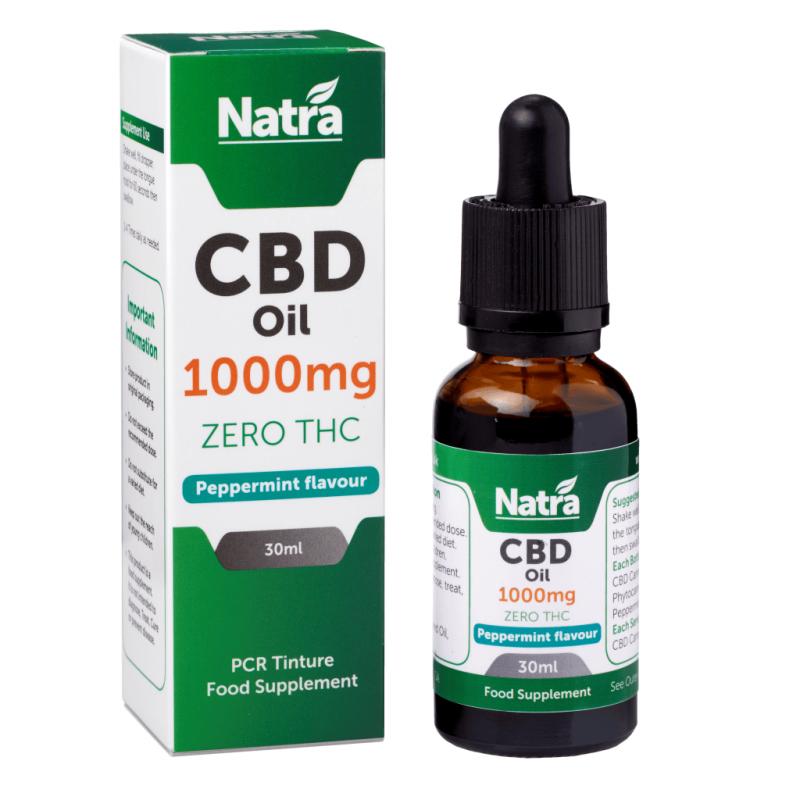 Natra CBD Oil Peppermint Flavour 1000mg