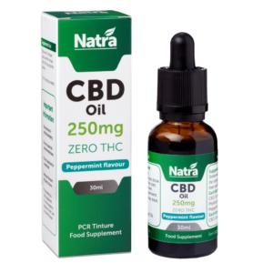 Natra CBD Oil Peppermint Flavour 250mg
