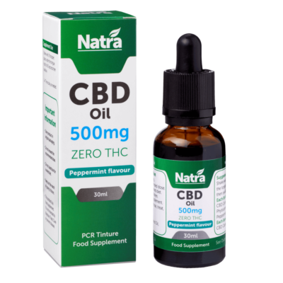 Natra CBD Oil Peppermint Flavour 500mg