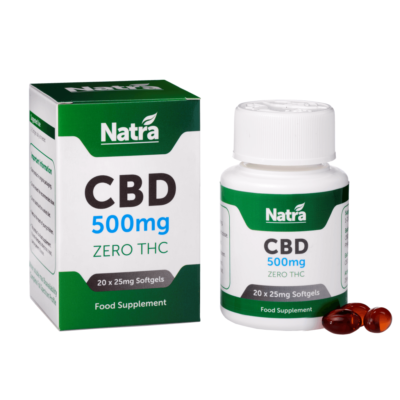 Natra CBD Softgels 500mg