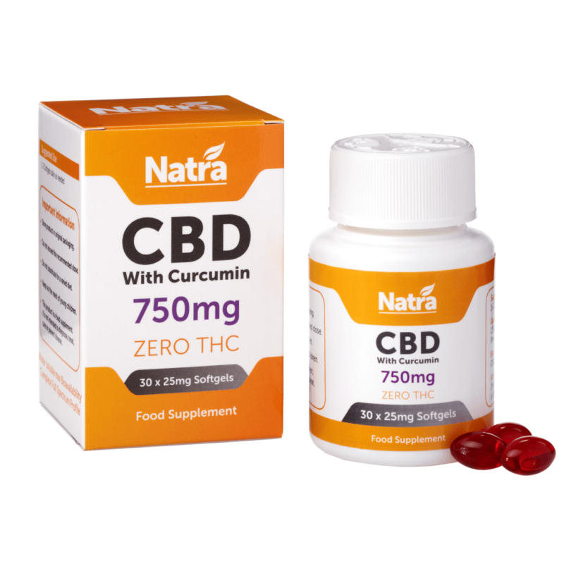 Natra CBD Softgels With Curcumin 750mg