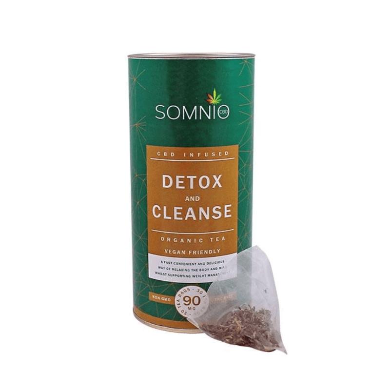 Somnio CBD Infused Organic Tea 30pcs - Detox & Cleanse