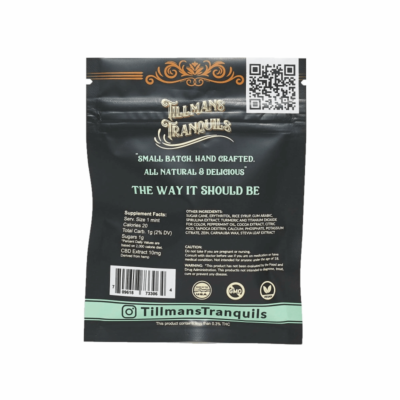 Tillman Tranquils Peppermint Full Spectrum CBD Mints - Back