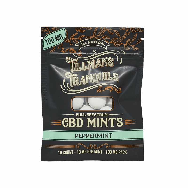 Tillman Tranquils Peppermint Full Spectrum CBD Mints