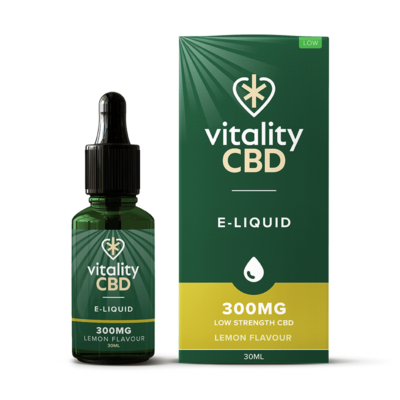 Vitality CBD E-Liquid - Lemon 30ml - 300mg