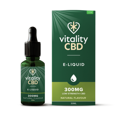 Vitality CBD E-Liquid - Natural 30ml - 300mg