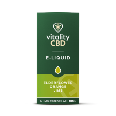 Vitality CBD Isolate E-liquid - Elderflower Orange Lime 10ml