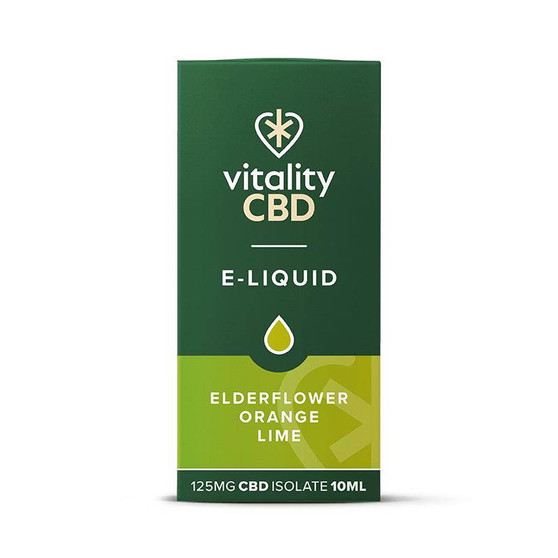 Vitality CBD Isolate E-liquid - Elderflower Orange Lime 10ml