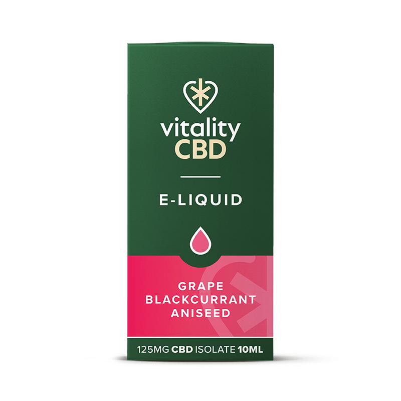 Vitality CBD Isolate E-liquid - Grape Blackcurrant Aniseed 10ml