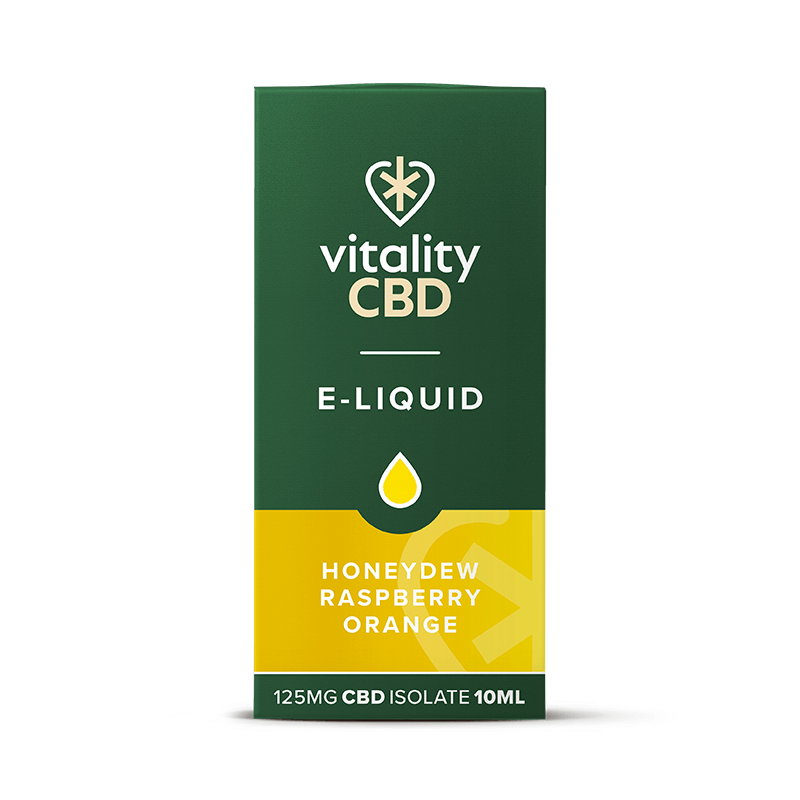 Vitality CBD Isolate E-liquid - Honeydew Raspberry Orange 10ml