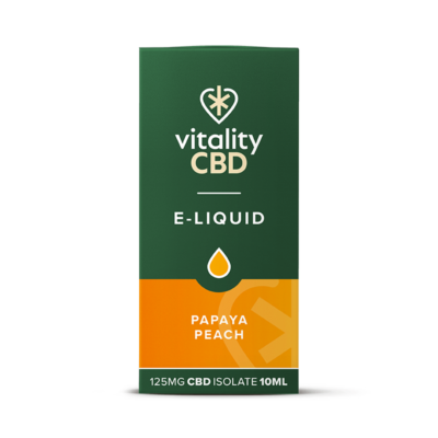 Vitality CBD Isolate E-liquid - Papaya Peach 10ml