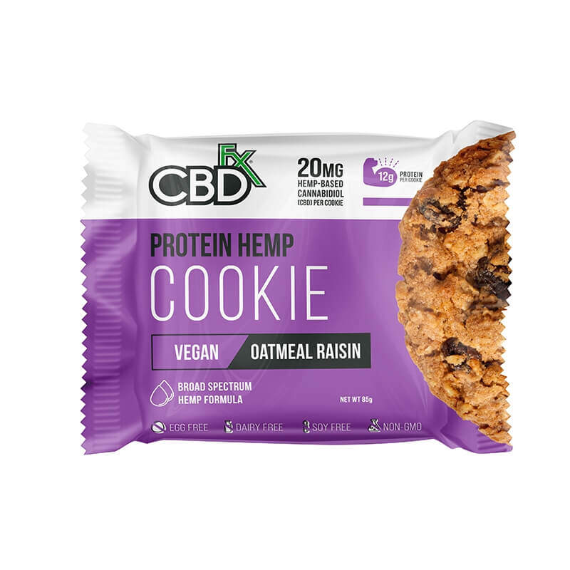CBDfx Protein Hemp Cookies - Oatmeal Raisin