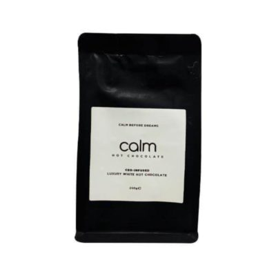Calm Luxury Hot Chocolate CBD-Infused 100mg 250g - White Chocolate