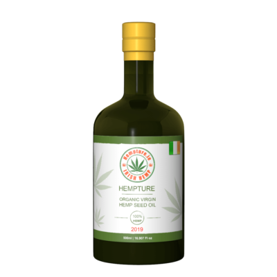 Hempture Organic Virgin Cold Pressed Hemp Seed Oil 500ml