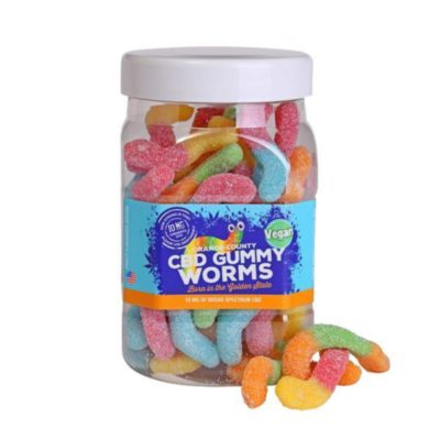 Orange County CBD Gummy Worms - Large Tub