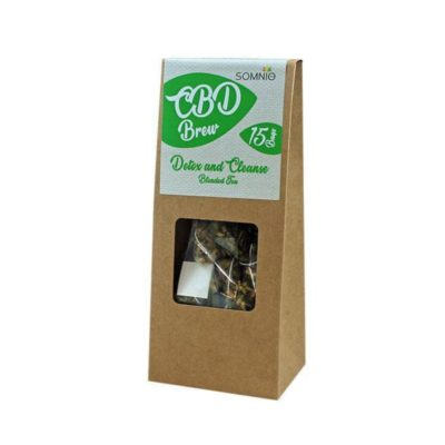 Somnio CBD Brew Blended Tea 15 bags 30g - 45mg - Detox & Cleanse