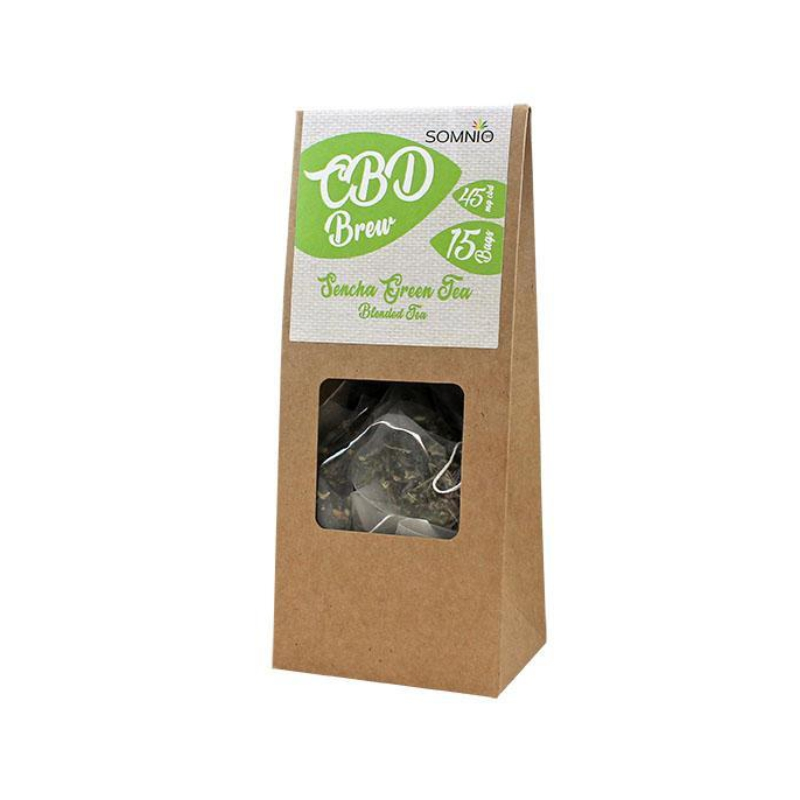 Somnio CBD Brew Blended Tea 15 bags 30g - 45mg - Sencha Green Tea