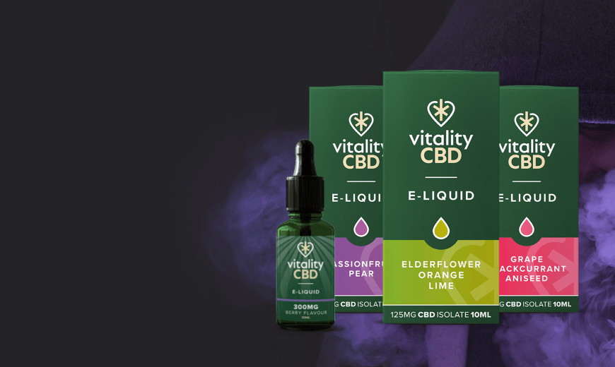 New Vitality CBD E-Liquids Flavours at The CBD Store