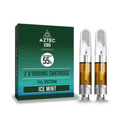 Aztec Refill Ice Mint 2-Pack 55% CBD Cartridges