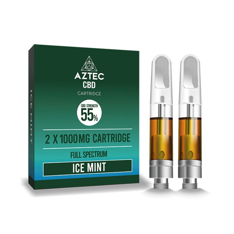 Aztec Refill Ice Mint 2-Pack 55% CBD Cartridges