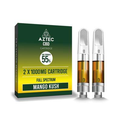 Aztec Refill Mango Kush 2-Pack 55% CBD Cartridges