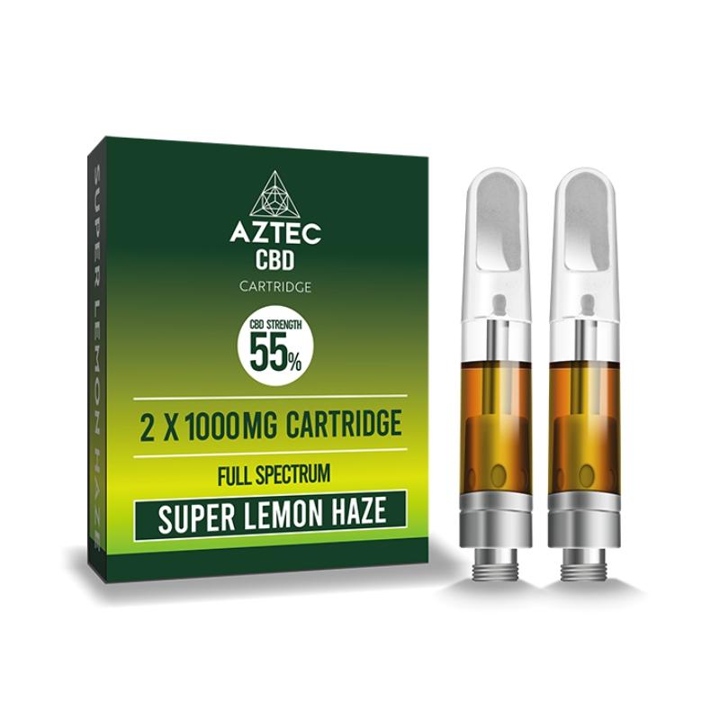 Aztec Refill Super Lemon Haze 2-Pack 55% CBD Cartridges