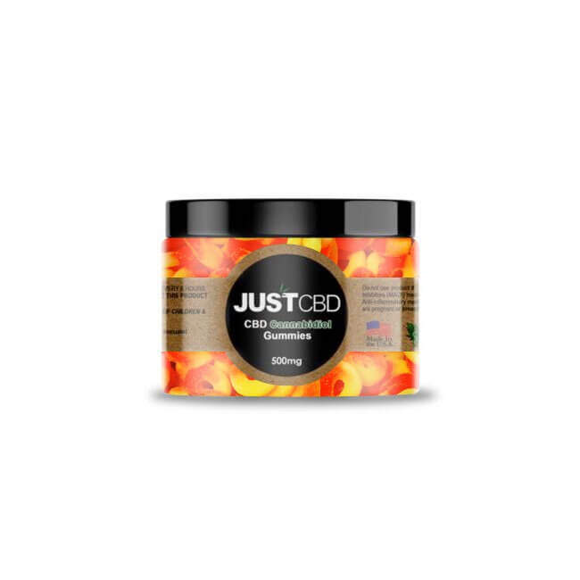 CBD Gummies 500mg Jar - Peach Rings
