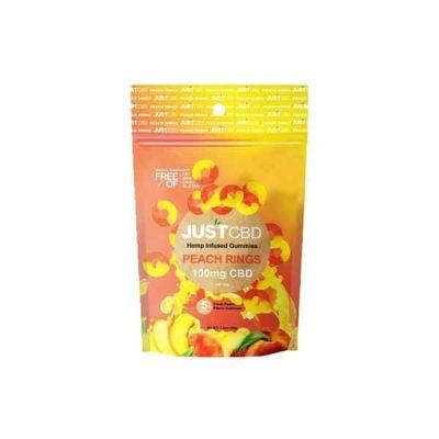 CBD Peach Gummies 100mg
