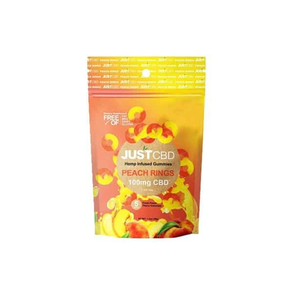 CBD Peach Gummies 100mg