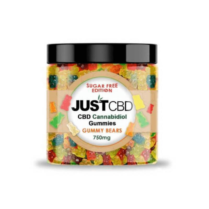 JustCBD Gummy Bears Sugar Free Edition - 750mg
