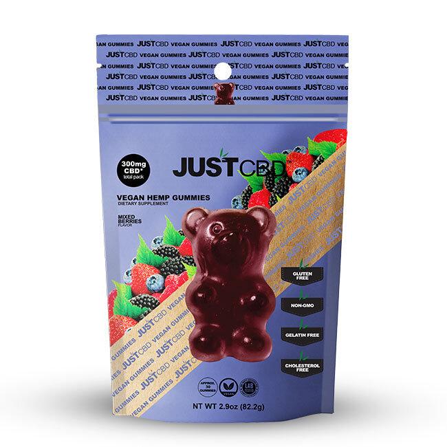 JustCBD Mixed Berries Bear Gummies 300mg