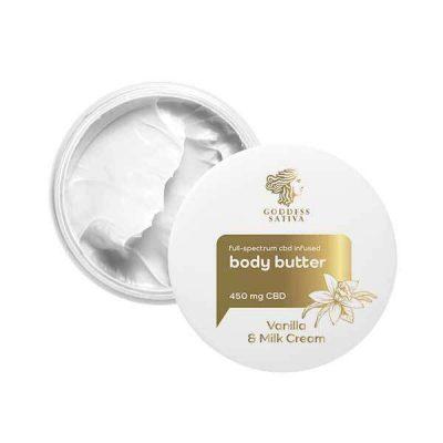 Goddess Sativa Body Butter Vanilla & Milk Cream 450mg 100ml