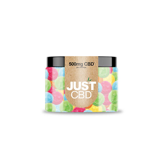 JustCBD Gummies 500mg Jar - Happy Face